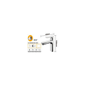 Single lever washbasin mixer